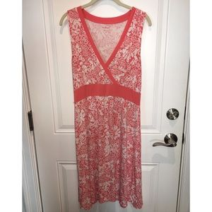 Pink medium length sleeveless sundress